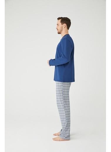 Mod Collection Erkek Patlı Pijama Takım İndigo